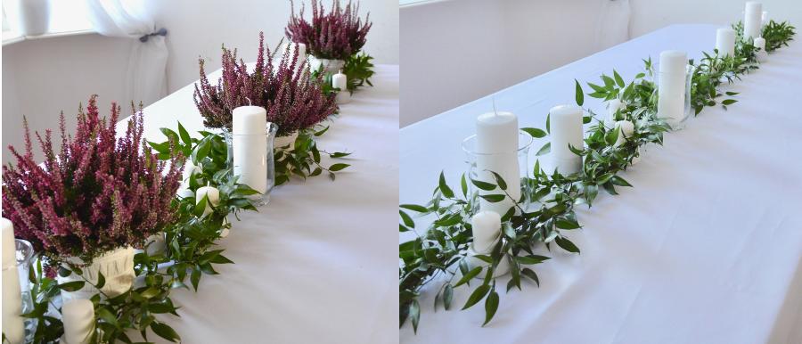 Projekt stołu, przed i po