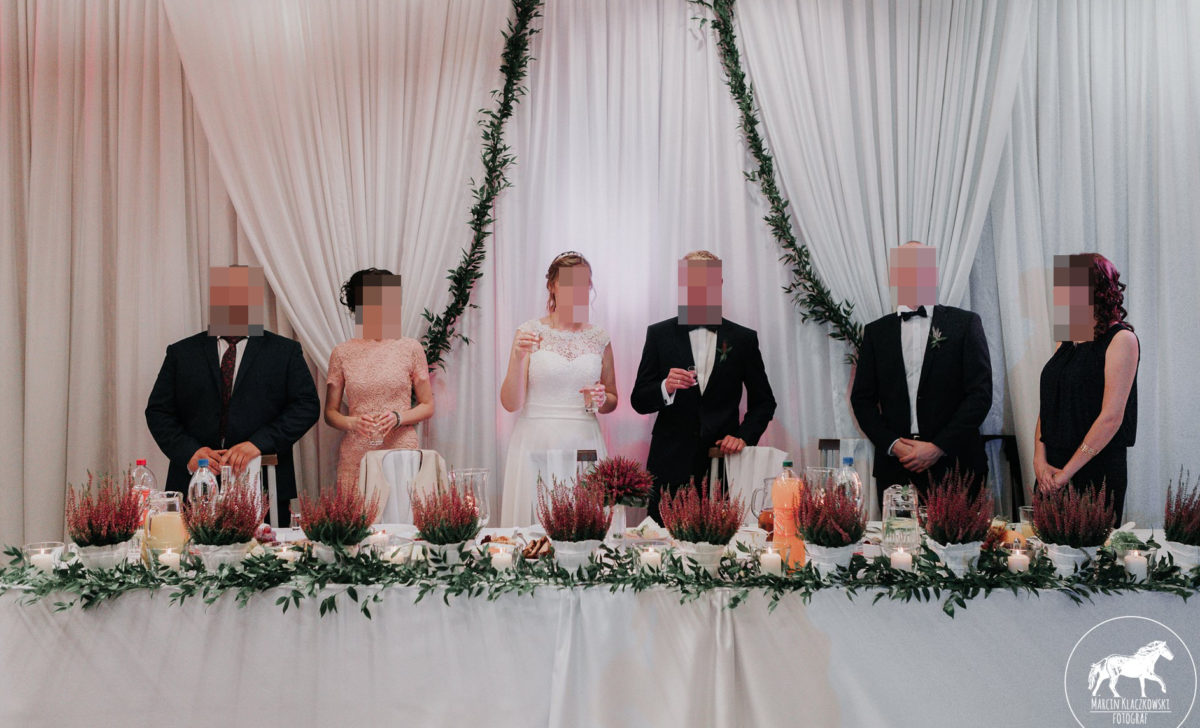 Dekoracje ślubne - ścianka